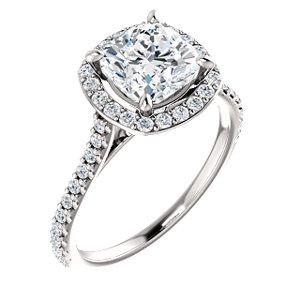Suri | Halo Style Engagement Ring