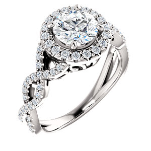 Gabriella | Infinity Inspired Halo Style Engagement Ring