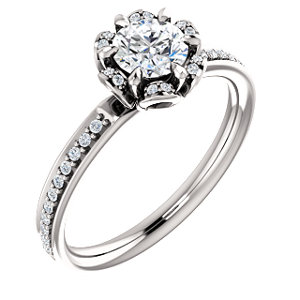 Remi | Floral Inspired Halo Style Engagement Ring