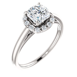 Brooks | Accented Gallery Halo Style Engagement Ring