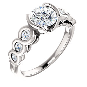 Collins | Bezel Set Accented Engagement Ring