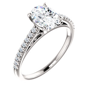 Alisse | Accented Gallery Engagement Ring
