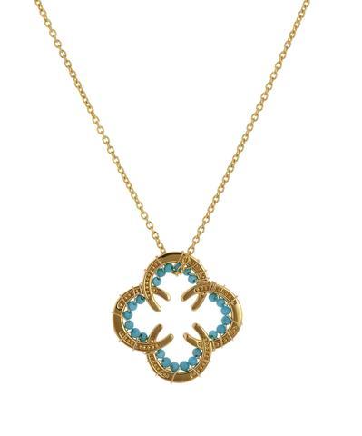 Horseshoe Necklace with Stones