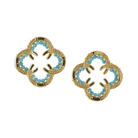 Horseshoe Earrings with Stones