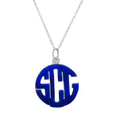 Enamel Pendant Necklace with Chain