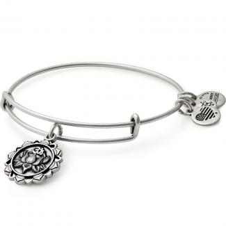 Lotus Peace Petals Charm Bangle