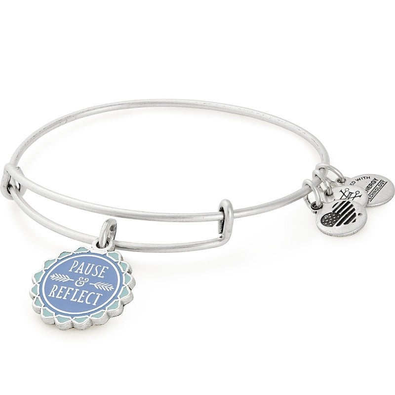 Pause and Reflect Charm Bangle