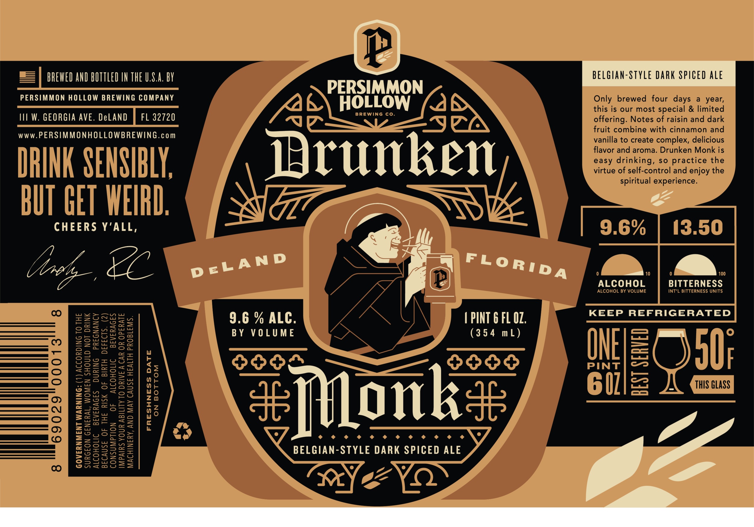 Copy of Drunken Monk Bottle Label