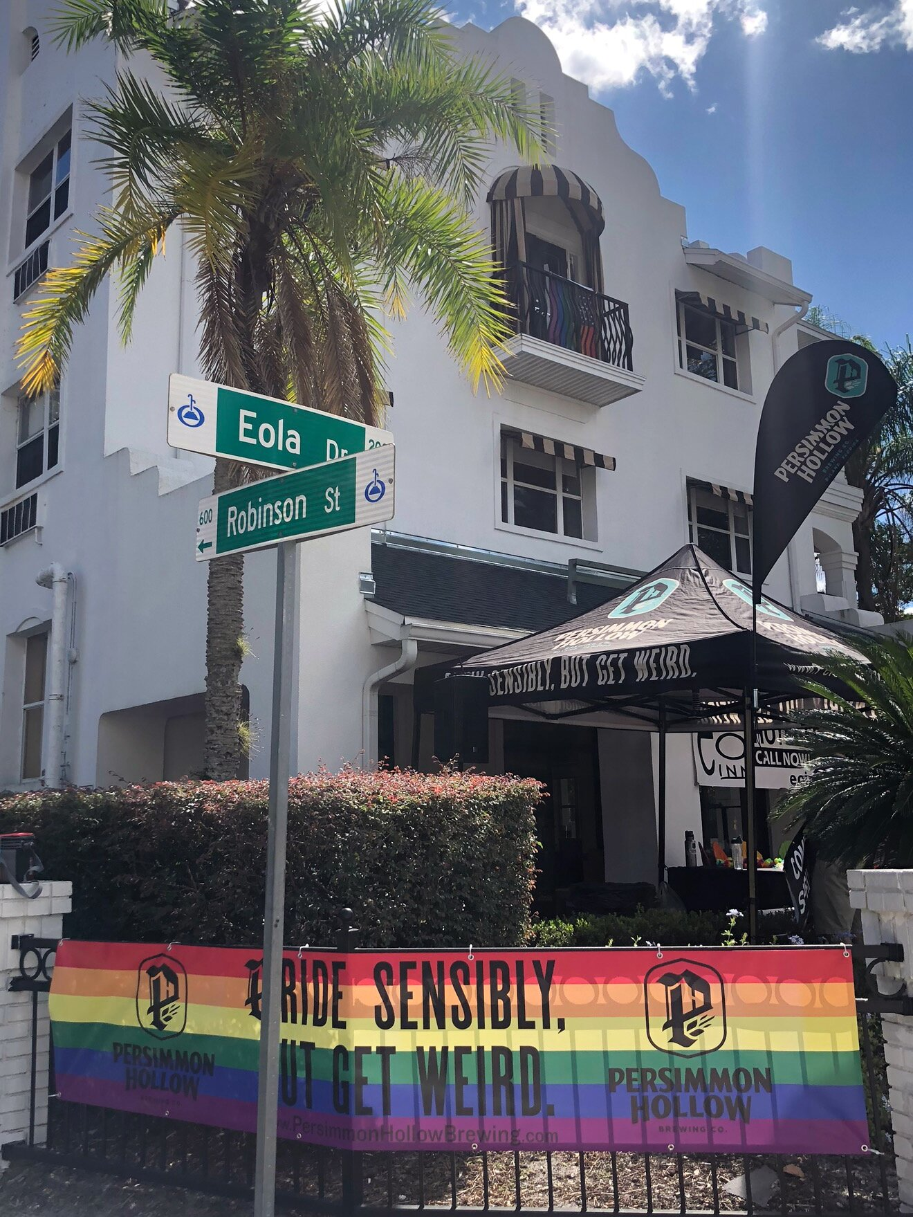 Pictured: Persimmon Hollow set up for the Come Out With Pride Orlando festival on October 12th.