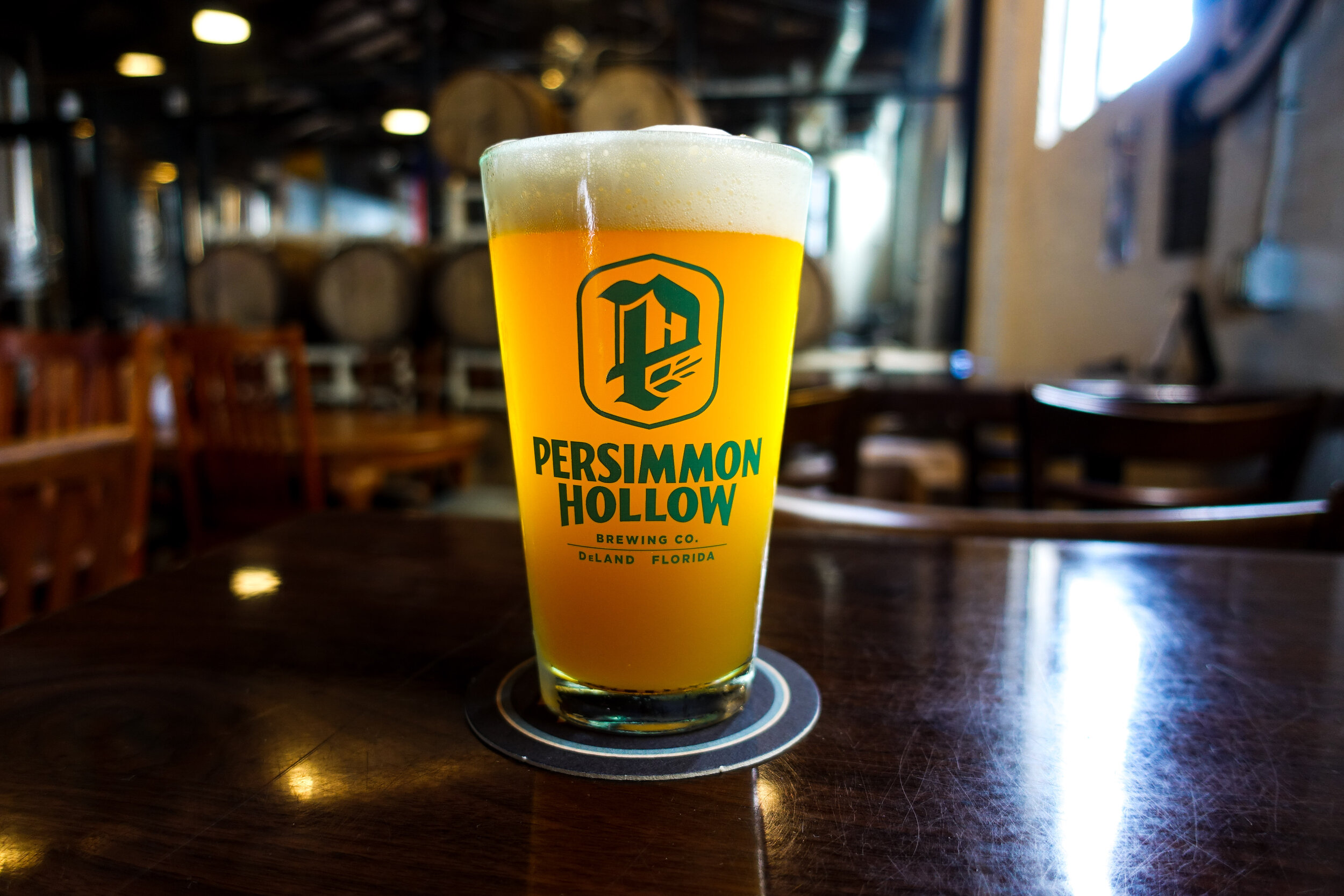 Pictured: Persimmon Hollow's Gypsy Hiker New England Style IPA.