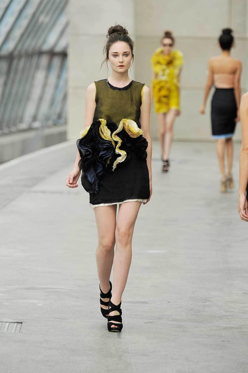 Felicity-Brown-SS11-09-Mustard-Silk-Layered-Tee-&-Ruffle-Skirt.jpg