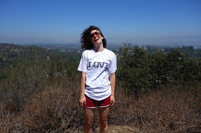 Sasha in an I Love Boxie 'LOVE' t-shirt.