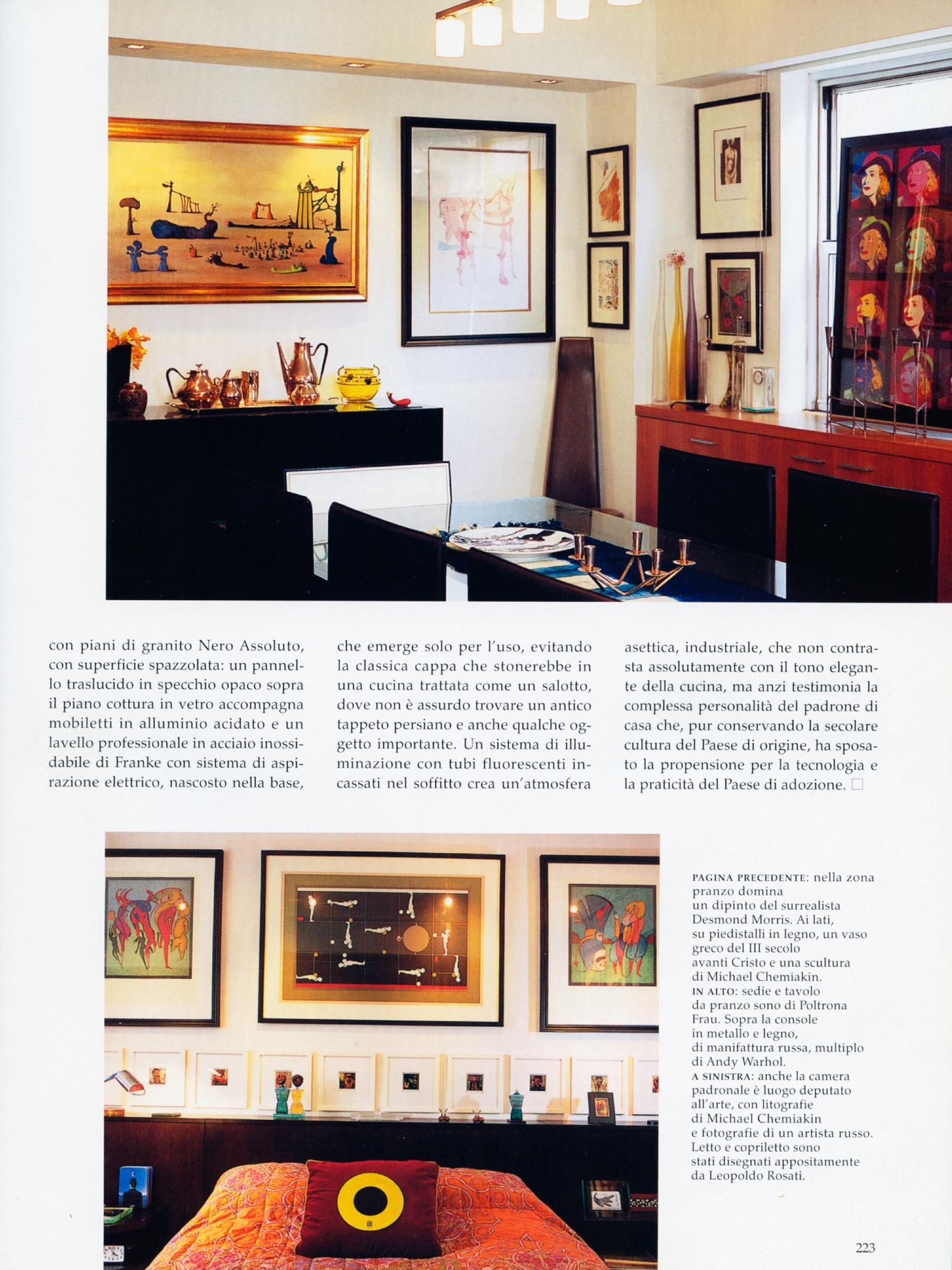 Lo Specchio In Cucina architectural digest italia march 2007 — leopoldo rosati