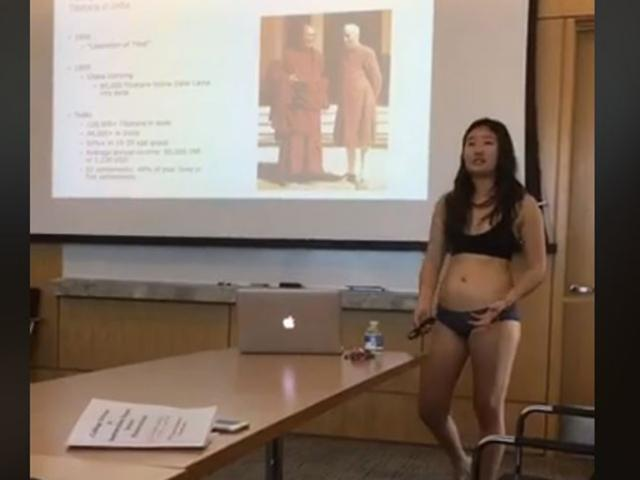 Letitia Chai giving her thesis presentation at Cornell.  from Facebook