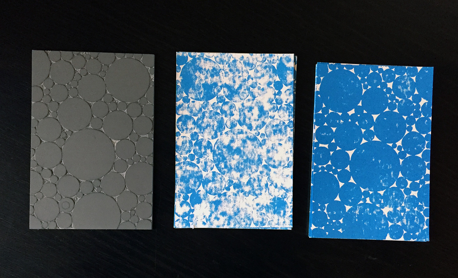 block, first print and final print.