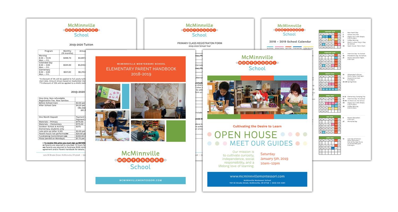 Forms | Calendar | Handbook Cover | Open House Flyer