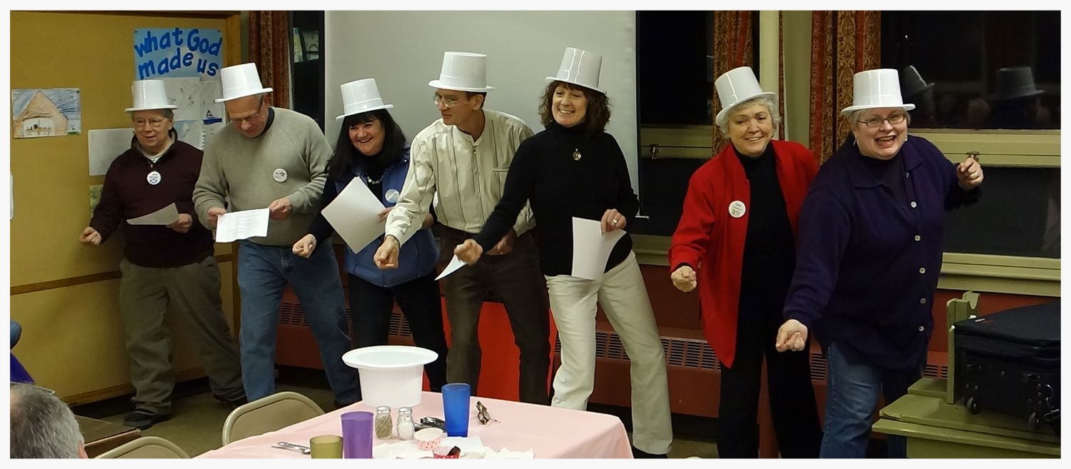 Our Vestry doesn't hesitate to deliver a message with style. This is a scene from our Annual Meeting.