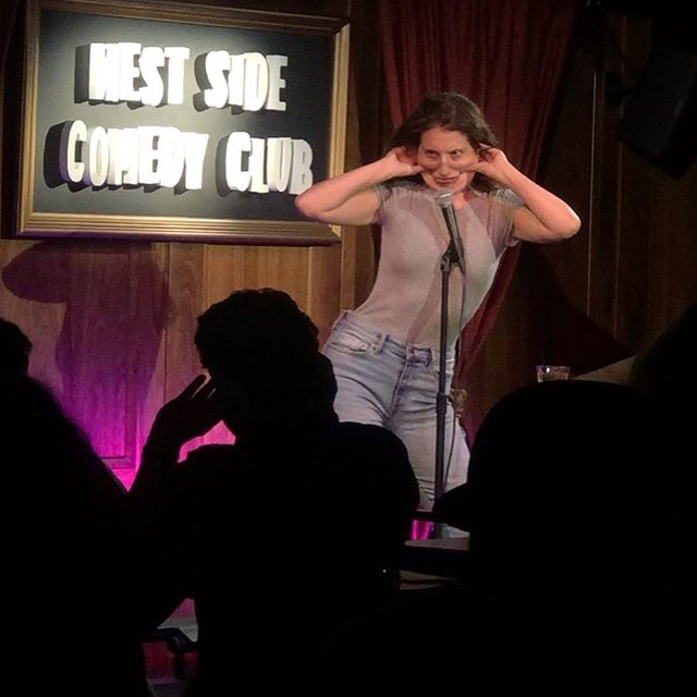 Thank You to @ianlaralive @westsidecomedyclub + @erikbcomic for a perfect Burr-thday weekend! Hosting @carolinesonbway tonight at 7:30pm come thru! 💋💋💋
