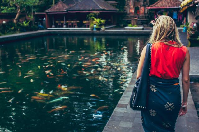 Isanta Tampak Siring's koi pond was absolutely gorgeous.