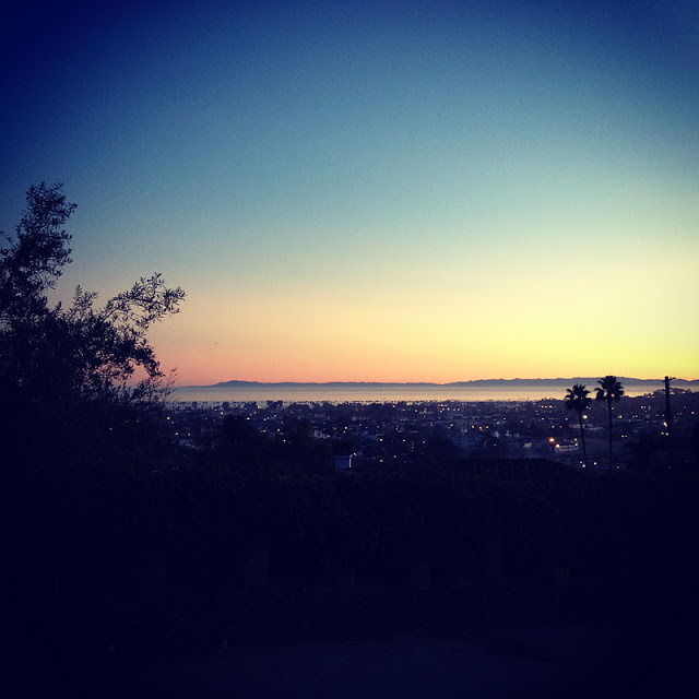 Santa Barbara truly has my heart. This is a photo taken on Christmas day from the Riviera at sunset looking out onto the city and Santa Cruz Island.