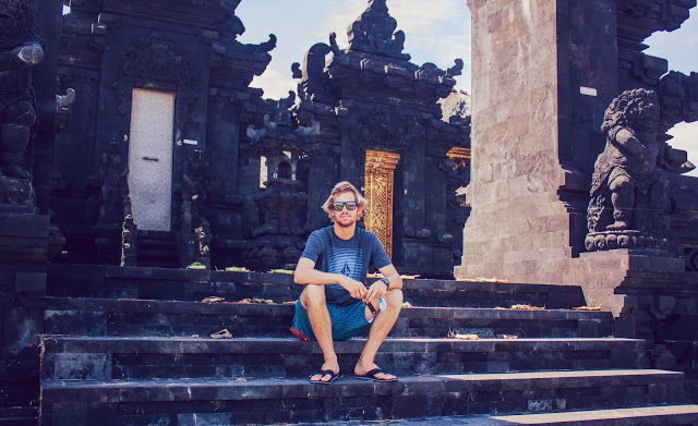 Kilian and I at the Canggu temple