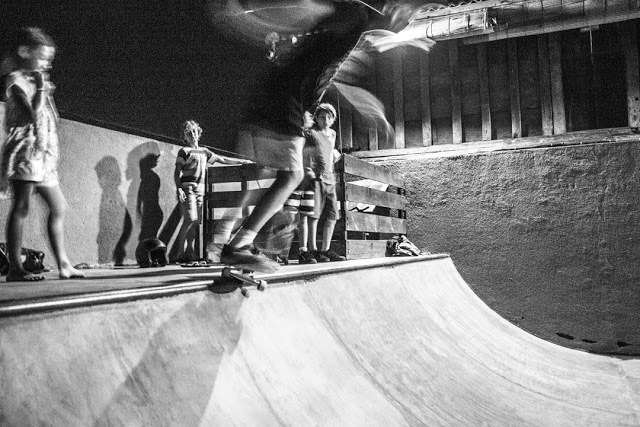 Late night mini ramp sessions at Deus