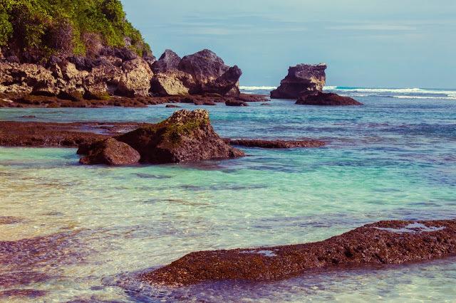 Uluwatu's crystal clear water