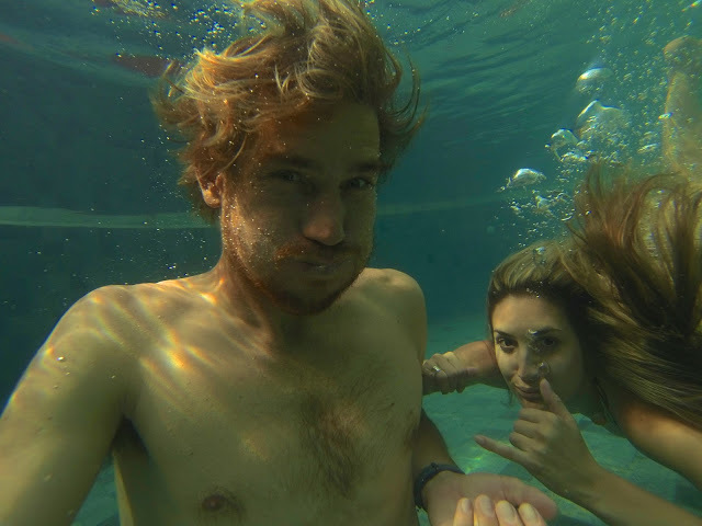 fun in the pool with the Go Pro Hero 3