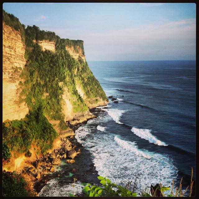 The cliffs at Uluwatu