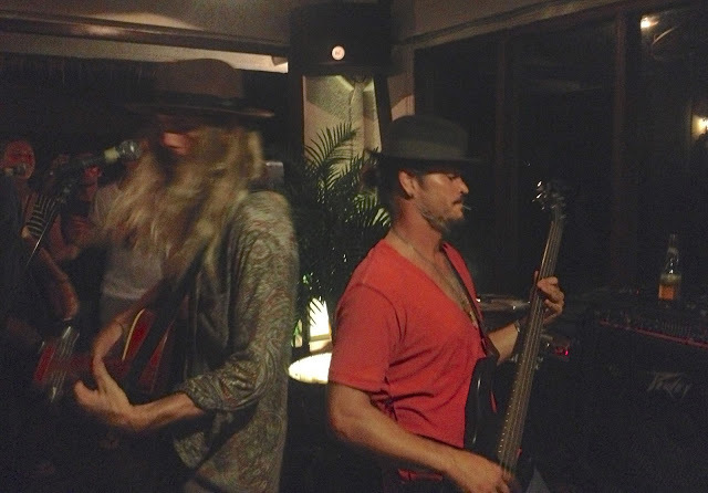 our friend Brad Gerlach and his buddies playing at a party at Single Fin above Ulus