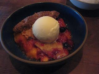 Peach, Raspberry & Blueberry Pie