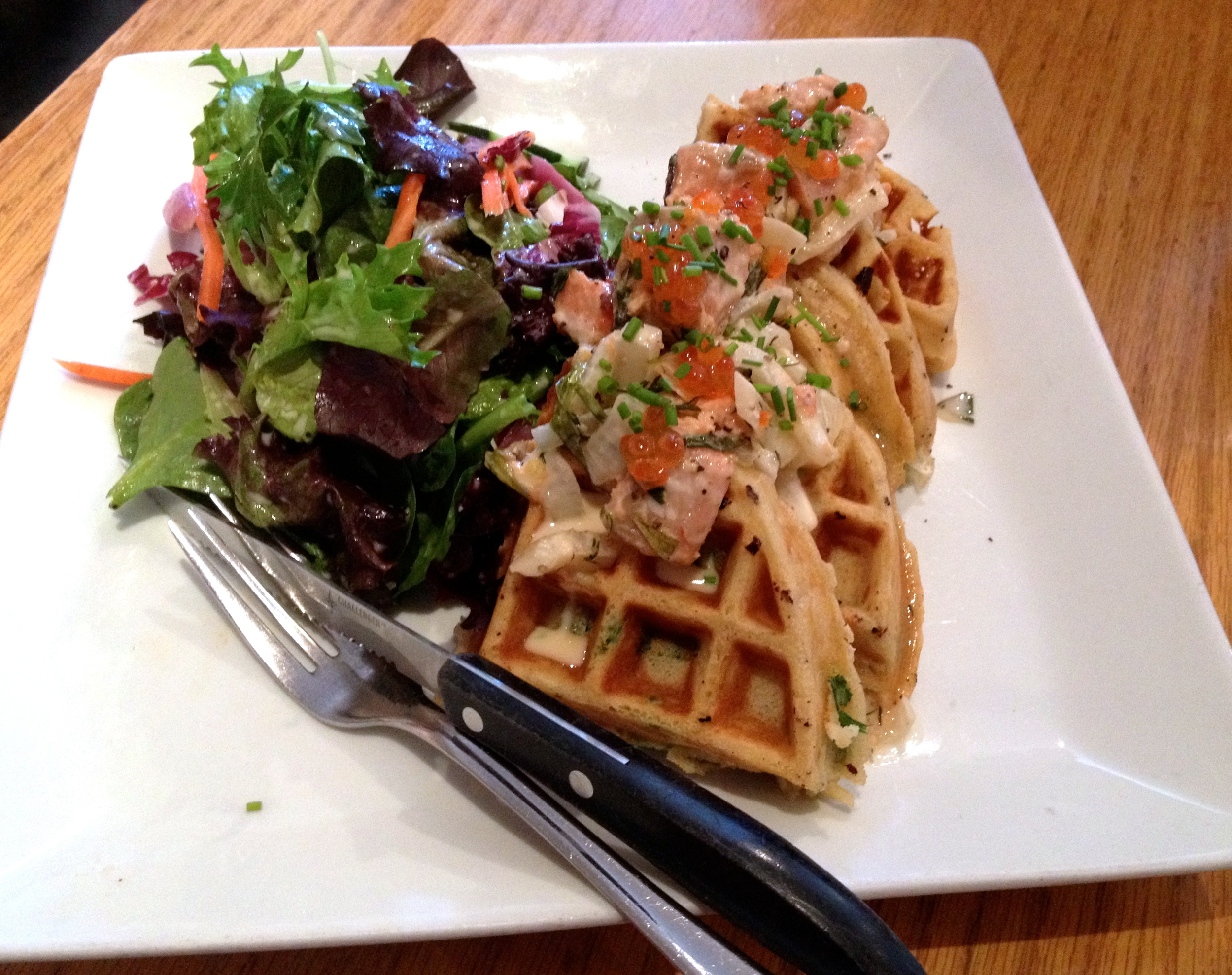 Pickled Salmon Waffle