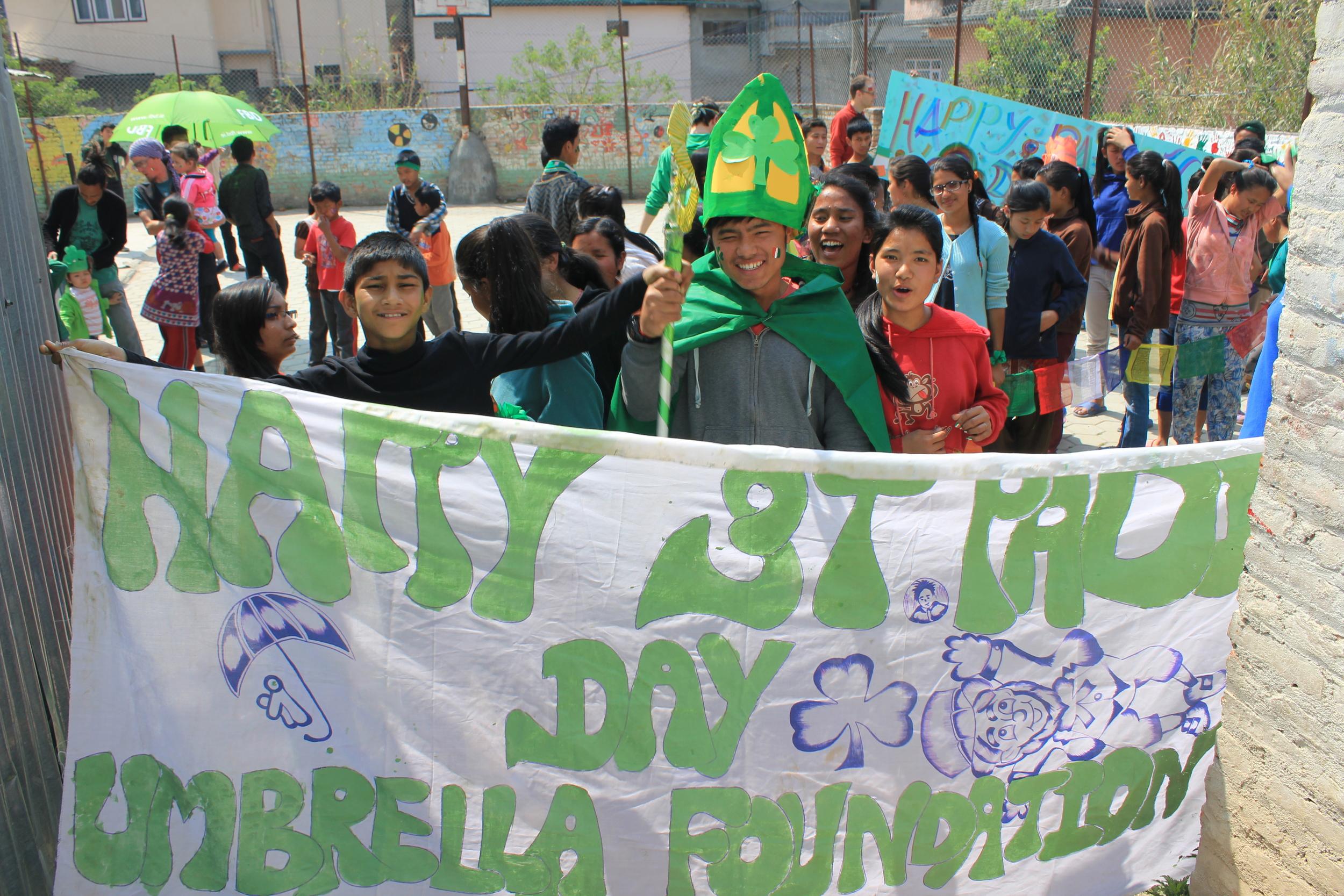 St Patrick leading the way....