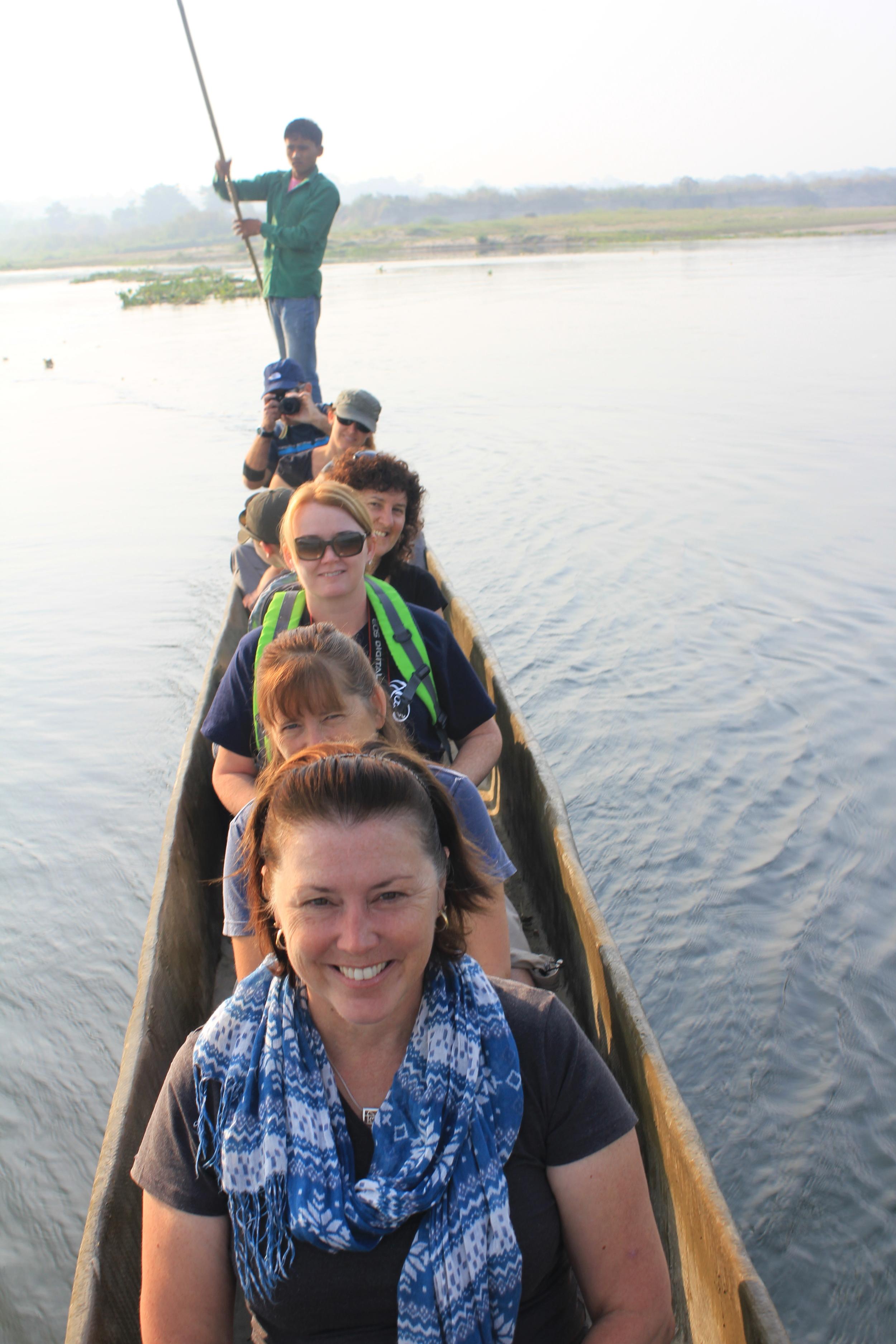 Feelingvulnerable in a very small canoe