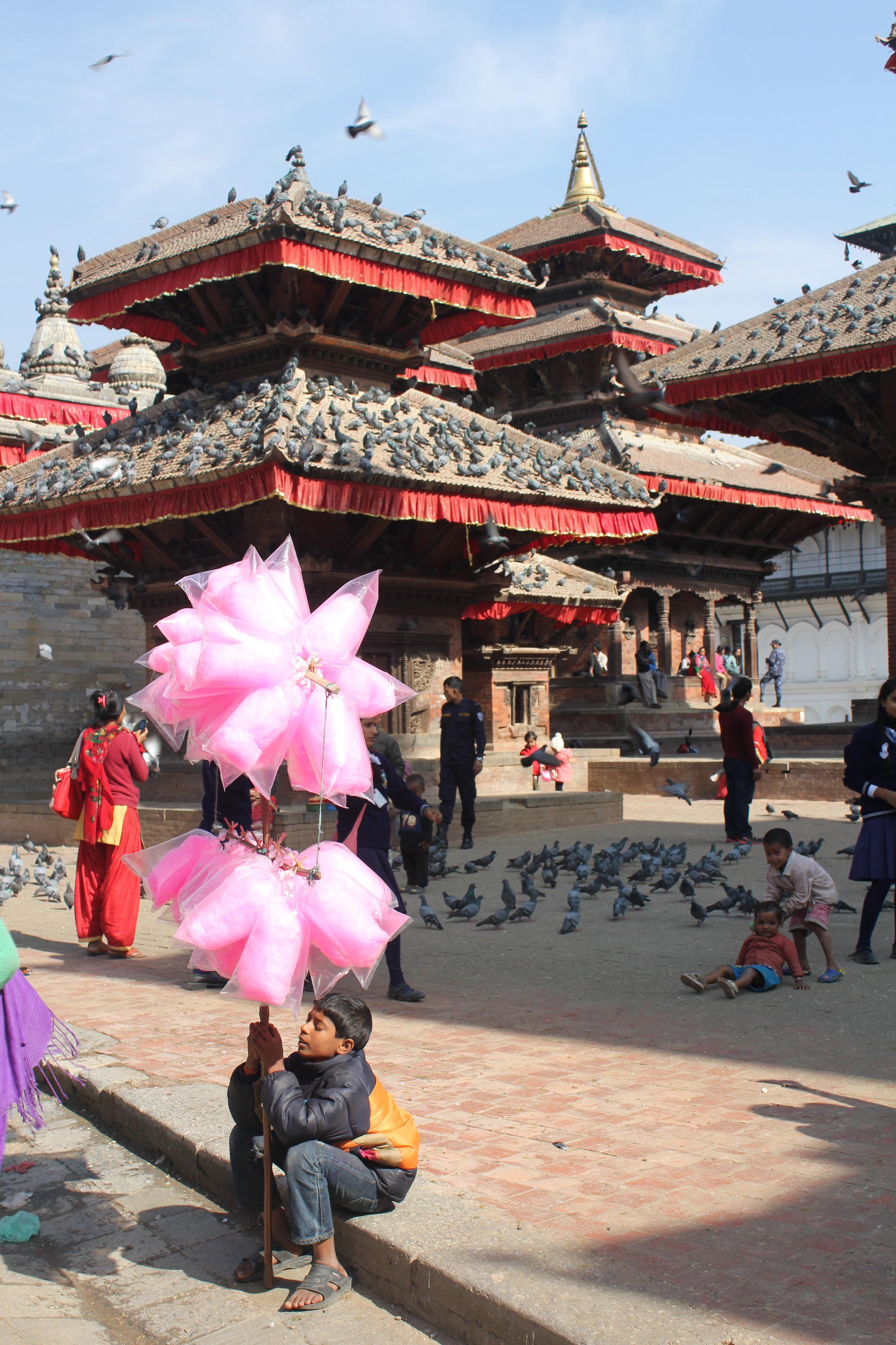 Fairy Floss in Durbar Square Kathmandu