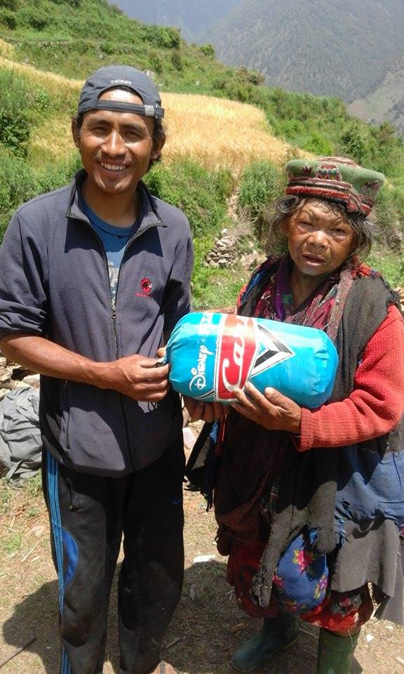 our dear friend Rajesh Lama with one of the community elders