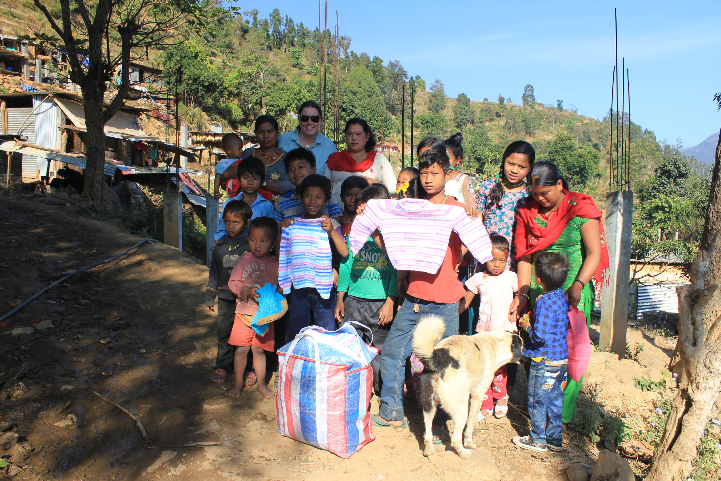 distribution of winter clothes to Sindhupalchok