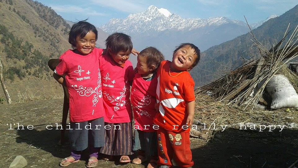 Hope Nepal tshirts donated by Anne in Melbourne