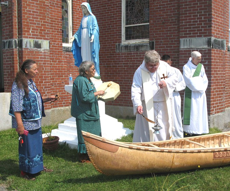 Blessing the Canoe