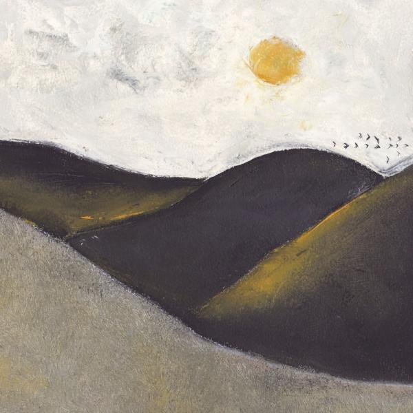 Landscape with Sun and Birds, Nicholas Abanavas