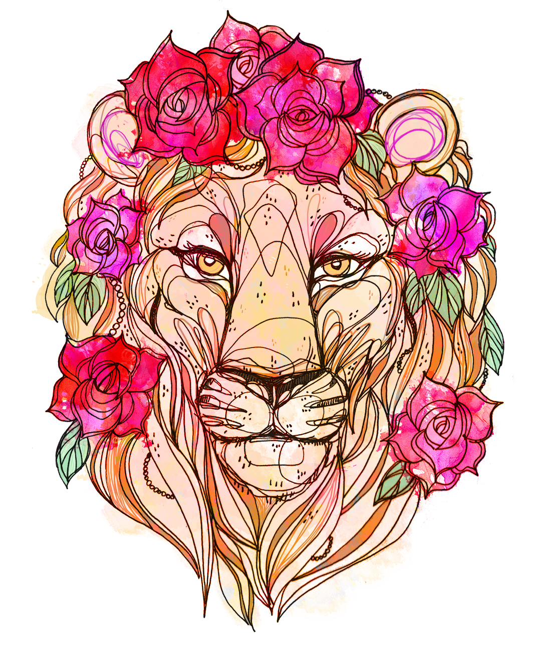 Rose Crown Lion