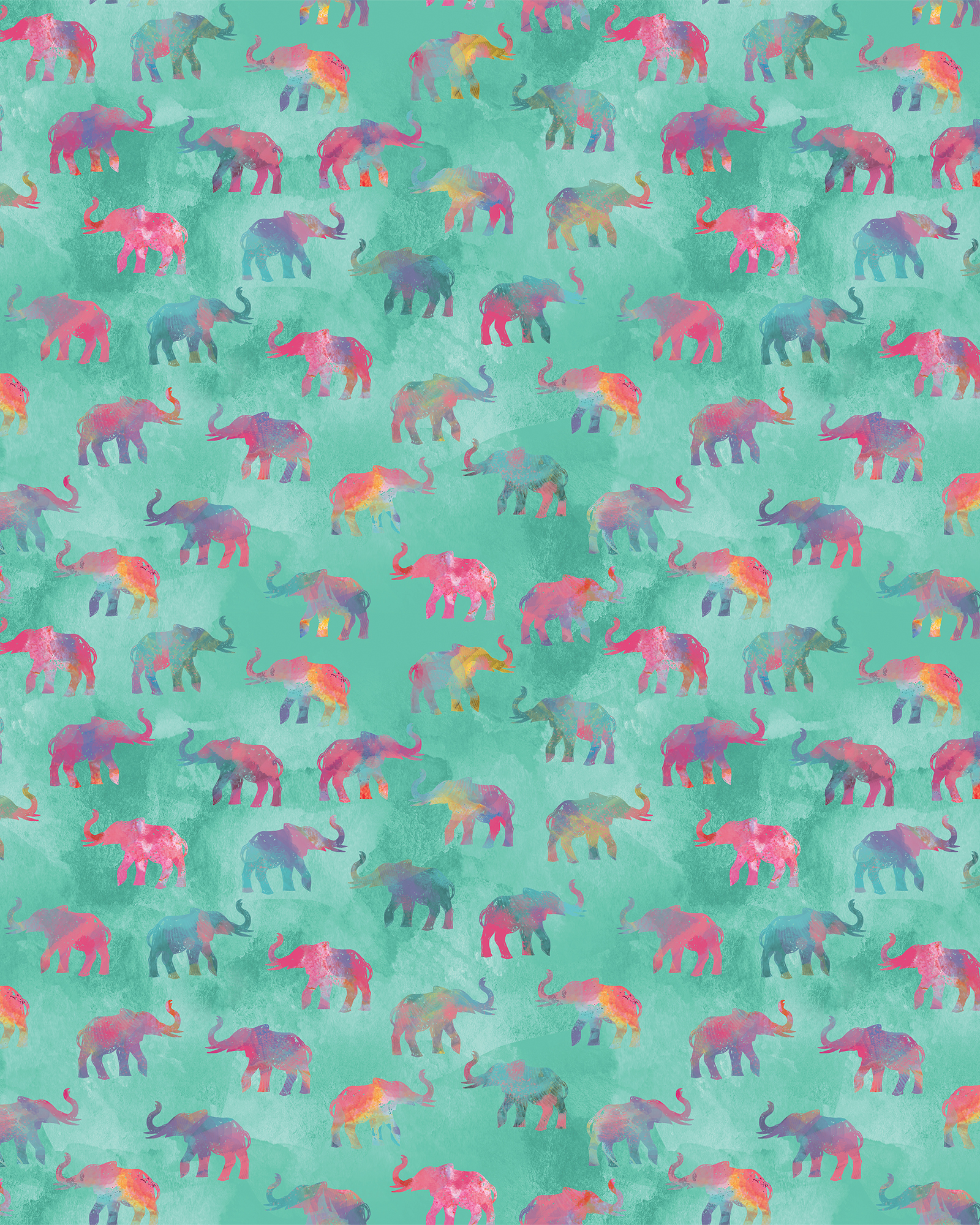 Rainbow Elephants on Parade