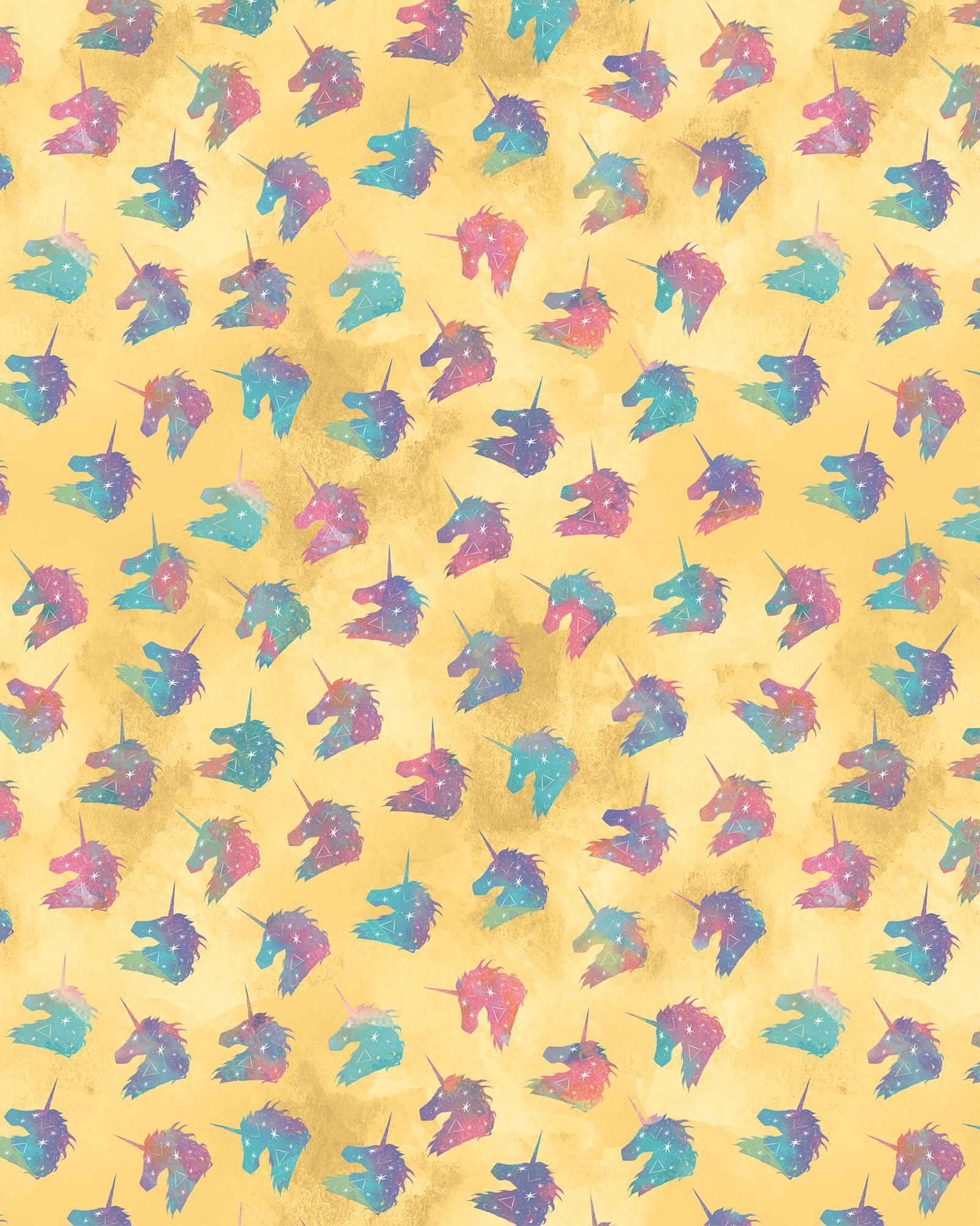 Rainbow Watercolor Unicorns