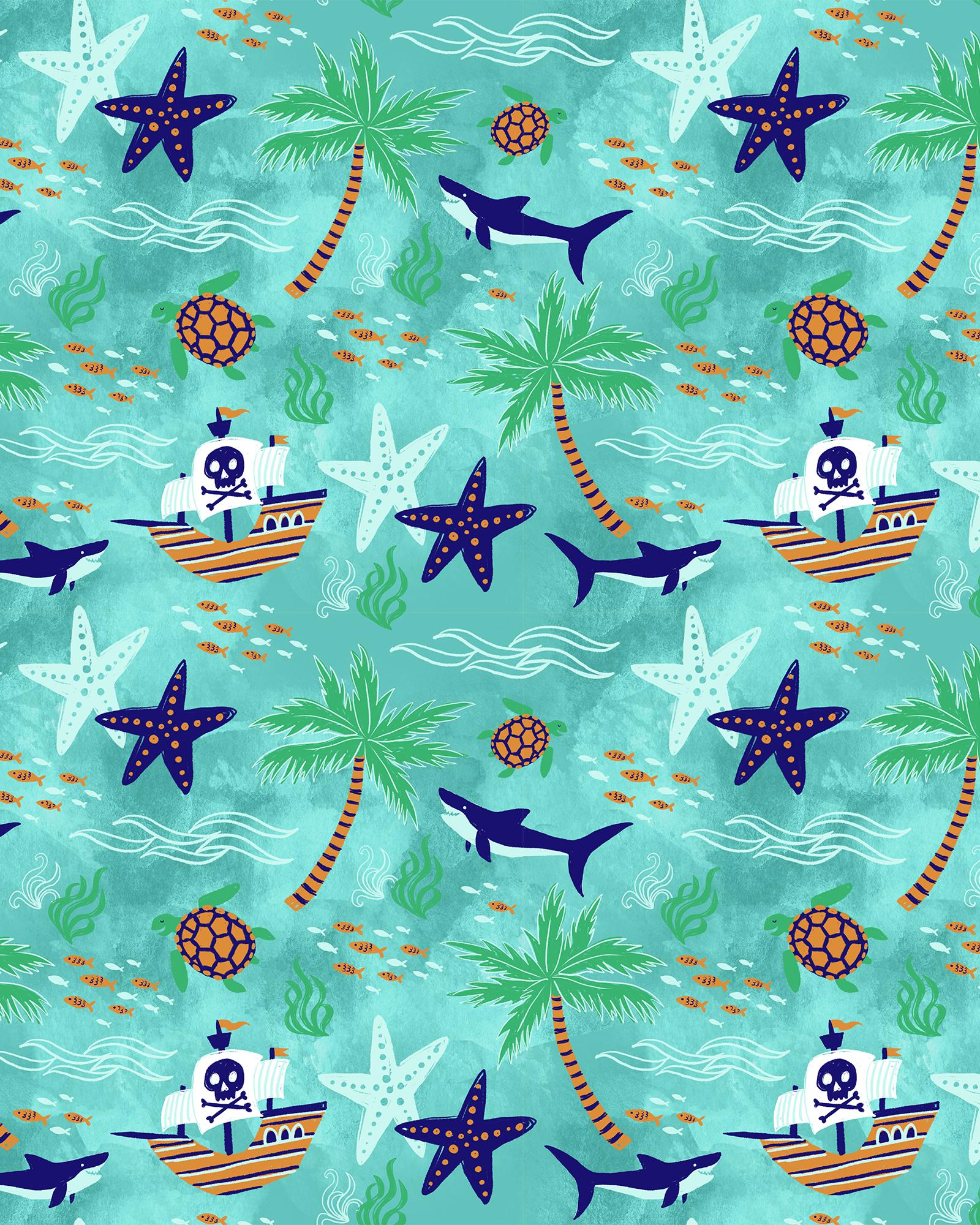 Tropical Pirates & Sharks