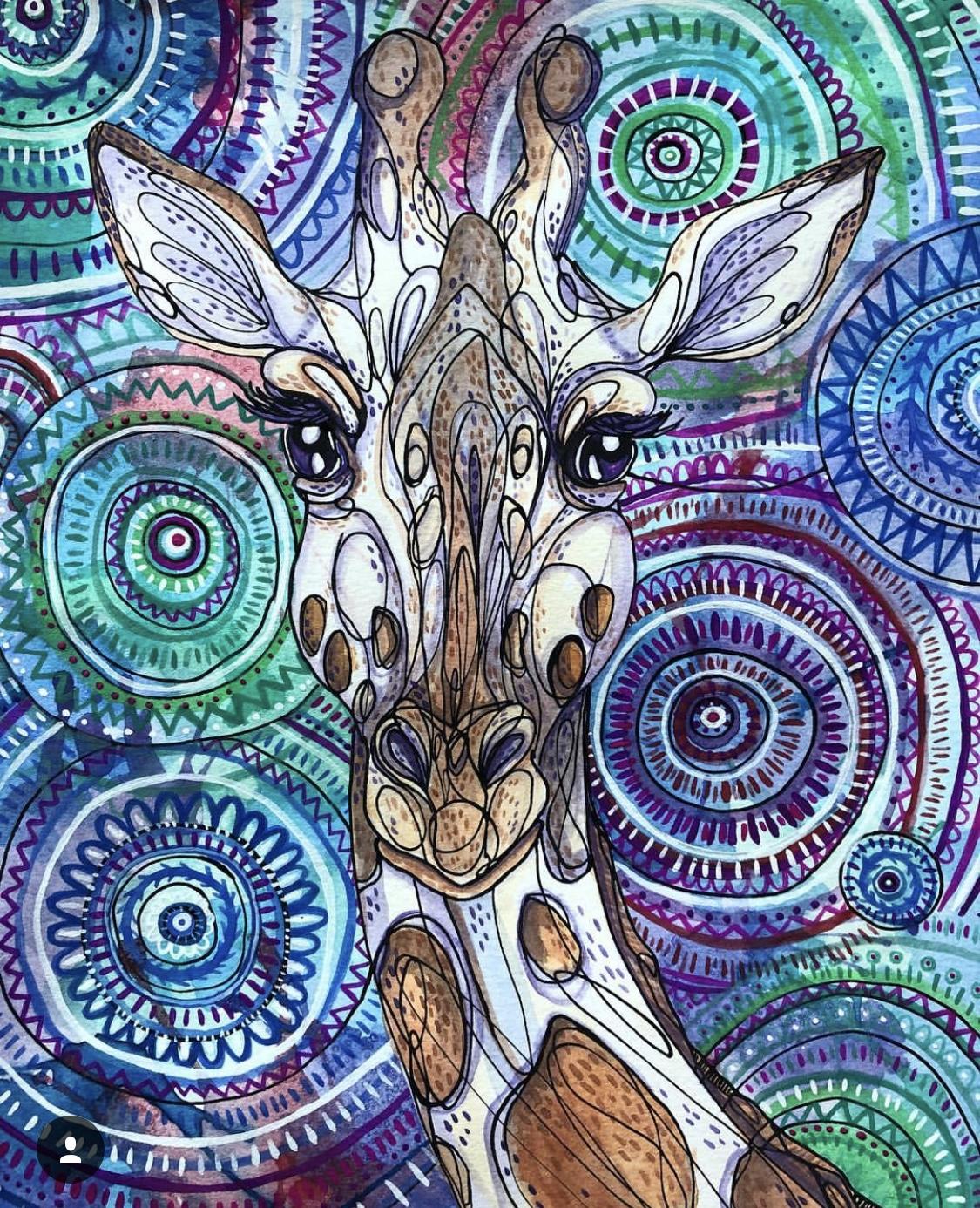 Giraffe Mandala
