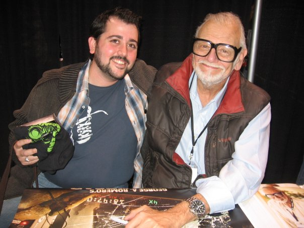 Andy with director George A. Romero