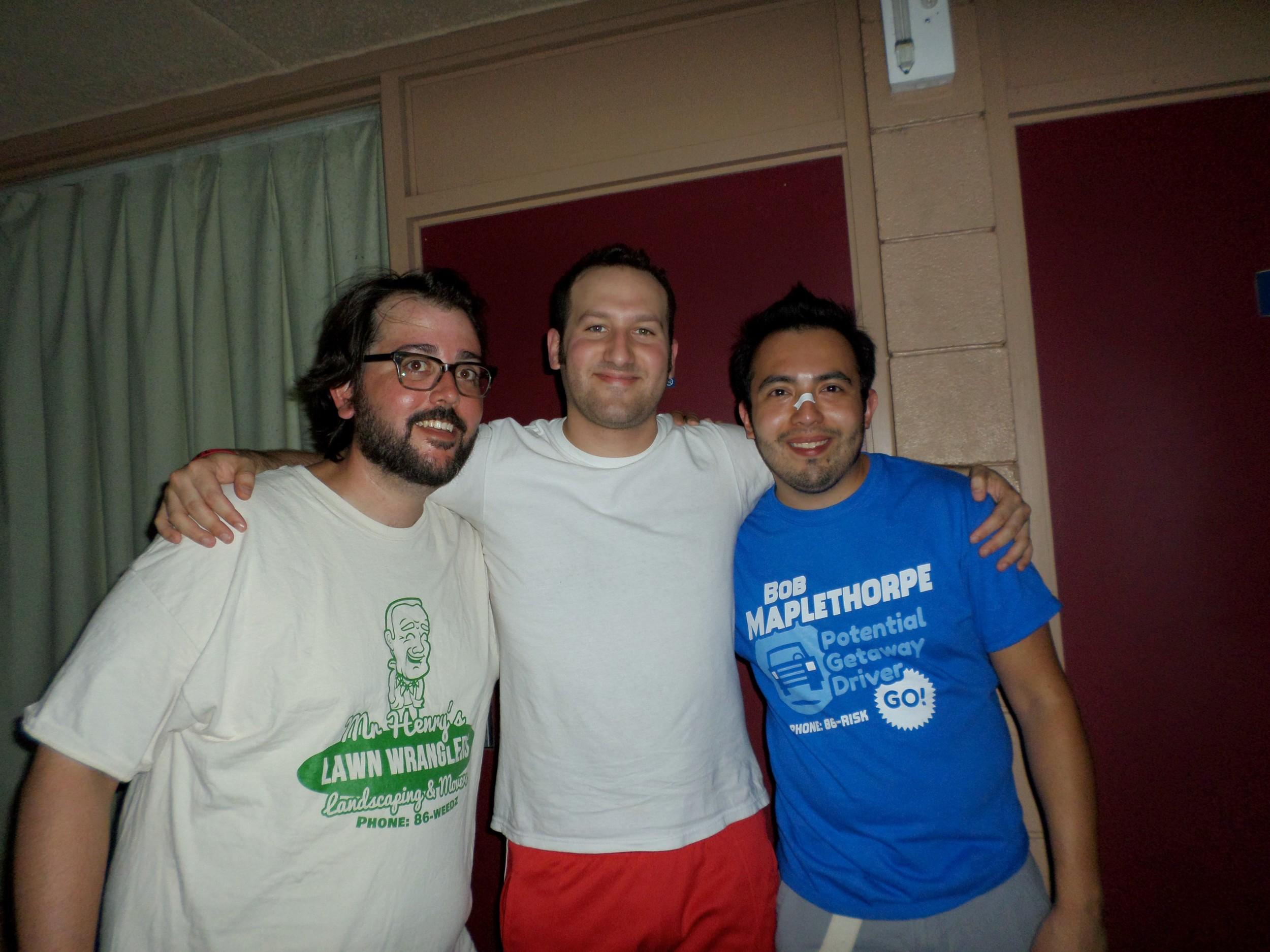 Chris and Andy with Matt Reuber