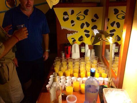 Drinks in Steve Zissou Room