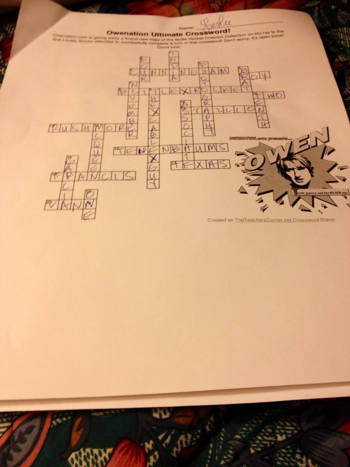 Crossword Puzzle Challenge Winner Leslie