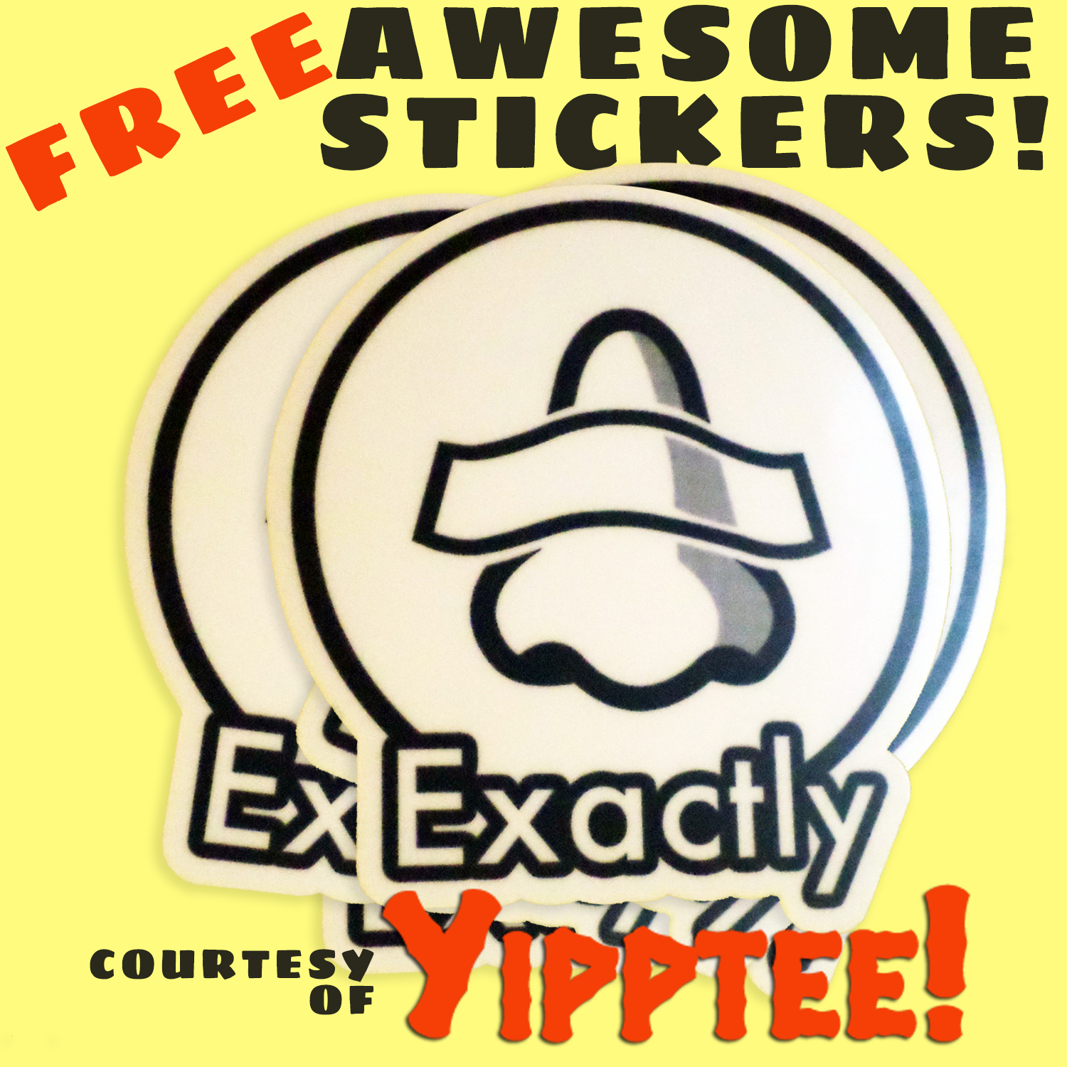 Free Stickers courtesy of YIPPTEE